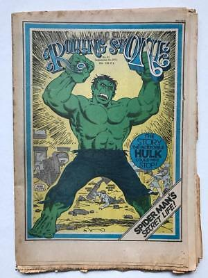 1971 Rolling Stone Magazine with Hulk Cover