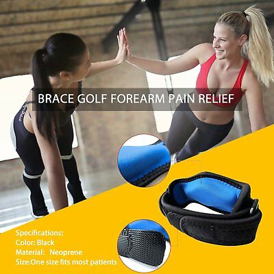 New Golf Tennis Elbow Support Compression Brace Strap Band Forearm Pad L!
