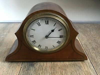 antique edwardian inlaid french mantel clock working