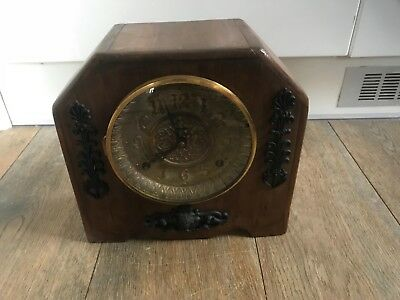 antique old french/ engish chiming mantel clock working