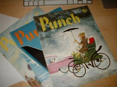 Vintage : PUNCH Magazine 3 editions - November/September 1958 - good condition