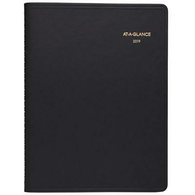 "AT-A-GLANCE 2019 Monthly Planner, 9"" x 11"", Large, Black 7026005"