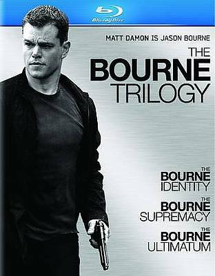 The Bourne Trilogy (Blu-ray Disc, 2009, 3-Disc Set) Factory Sealed