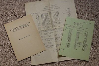 Leica Leitz Rare ELNY Price Lists1939 and 40 Lovely Condition