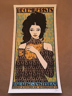 Chuck Sperry Decemberists Amsterdam Poster Artist Edition Signed/Numbered #/125
