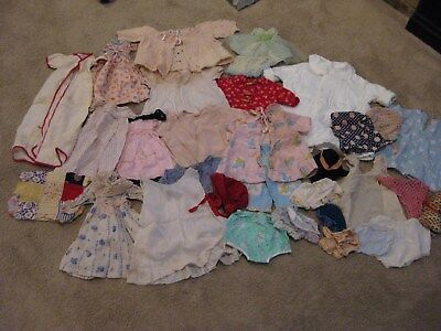 Lot of Vintage Doll Clothes- 40's-50's -30+ Pieces