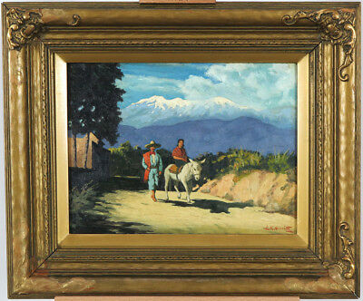 Lorne Kidd Smith (1880 – c. 1966) Canadian Listed Oil/Panel Mexican Landscape