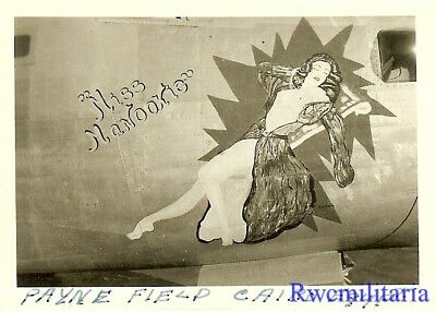 "Org. Nose Art Photo: B-24 Bomber ""MISS NANOOKIE""!!!"