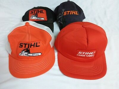 Vintage Stihl Chainsaw Trucker Cap/Hat Lot of 4 New Old Stock