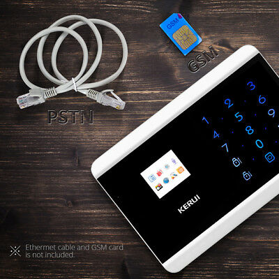 KERUI 8218G PSTN GSM Alarm System Dual Net Touch Dual APP Controlled Home Safety
