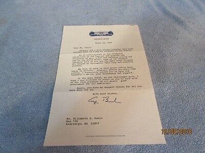 George H W Bush signature &  letter, Certficate signed by Bush and Quayle ,photo