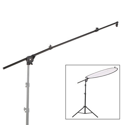 Extendable Photo Studio Photograph Reflector Diffuser Holder Stand Boom Arm M5K1