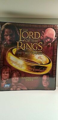 Lord of the Rings Two Towers Binder with Inserts Trading Card Album