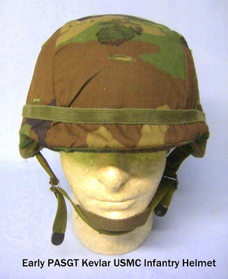 Early PASGT Kevlar USMC Infantry Helmet, Size Small (S-3), Mint Condition