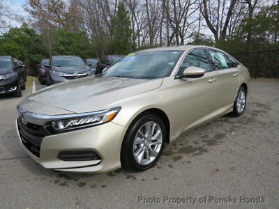 2018 Honda Accord Sedan LX CVT Sedan LX CVT Sedan 4 dr CVT Gasoline 1.5L 4 Cyl CHAMPAGNE FROST