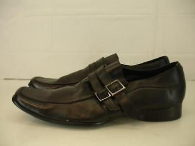 Kenneth Cole Reaction Shoes Final Note-Ice Double Strap Loafer Black Mens 11.5 M