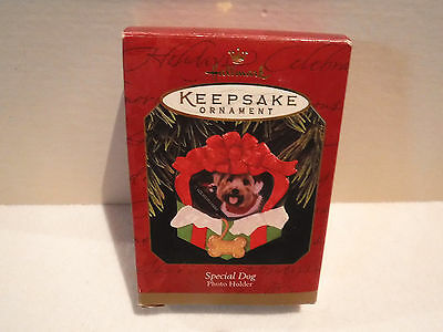 Hallmark Keepsake Special Dog Photo Holder Ornament - New In Box
