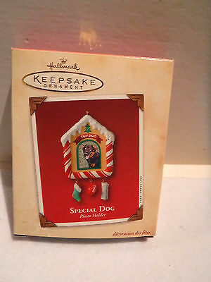 Hallmark Keepsake Special Dog Photo Holder Ornament-New In Box