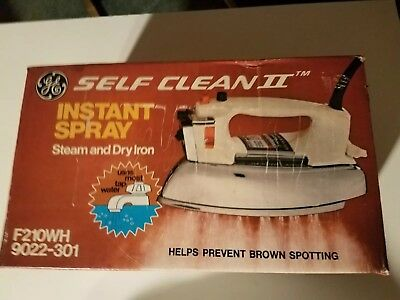 NOS Vintage GE Self-clean Steam and Dry Iron, Box Never Opened. Made in the USA