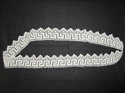 LP51 Vintage Handmade Crochet Ribbon Trim Fashion Doll Applique Collar Belt