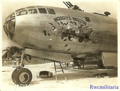 "Org. Nose Art Photo: B-29 Bomber ""MADDY'S WAGON""!!!"