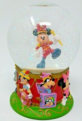 fa8c5bcd840 Vtg DISNEY Marching MICKEY Band Leader SNOWGLOBE - Minnie GOOFY Donald DUMBO