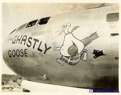 "Org. Nose Art Photo: B-29 Bomber ""THE GHASTLY GOOSE""!!!"
