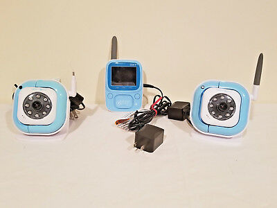 Infant Optics DXR-5 Portable Video Baby Monitor with 2 Cameras TESTED & WORKING