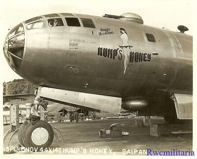 "Org. Nose Art Photo: B-29 Bomber ""HUMP'S HONEY""!!!"