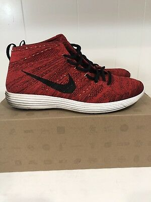 outlet store ad185 1c60f Nike Lunar Flyknit Chukka University Red 12 htm black white