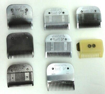 Vtg Lot of 7 Oster Blades For Professional Electric Hair Trimmers 1960's