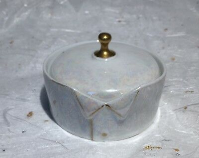 German  Antique Porcelain /china Rs Stud Collar Button Box~Germany~Lustre Ware