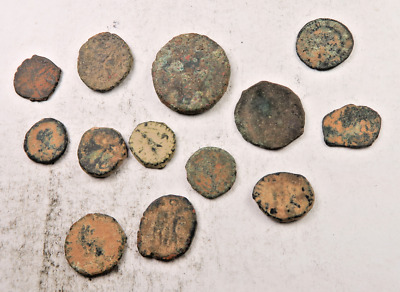 (13) Ancient Roman Coin Lot // Low Grade // 13 Coins (ACL24)