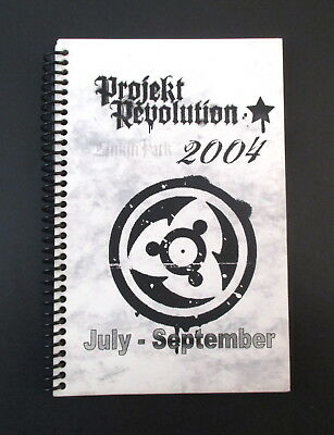 Linkin Park Projekt Revolution July-Sept 2004 Tour Band & Crew Itinerary Book
