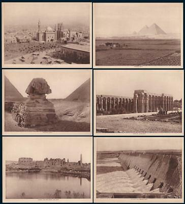 1913 EGYPT Land of Mystery 6 Photographic Gravure Plates The Mentor Magazine