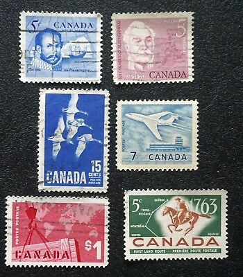 CANADA  1963   COMPLETE YEAR SET  6 stamps  USED