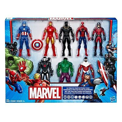 Marvel Avengers 8 Character Ultimate Protectors Pack | Brand New! | Super Hero