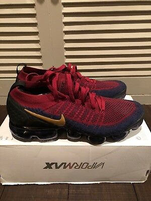 Nike Air Vapormax Flyknit 2 Mens 942842-604 Red Obsidian Running Shoes Size 9