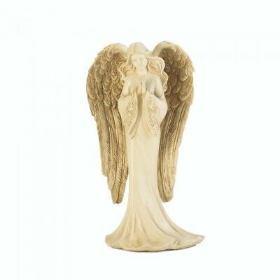 Winged Angel Praying Figurine Feather Faith Spiritual Religious Collectible Gift