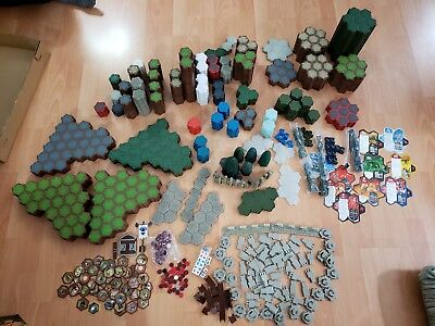 HUGE Heroscape Tiles Lot, Hexes, Trees, Dices, over 676+ pieces terrains, dices