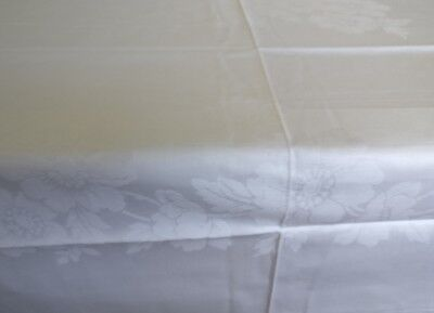 Vintage Tablecloth Ireland Traditional White Christmas Idea 137 x 229cm Unused