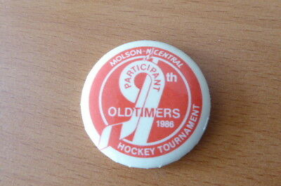 Molson N Central Oldtimers 1986 Tournament Ice Hockey Badge Canada