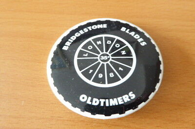 London Bridgestone Blades Oldtimers Ice Hockey Badge 1981