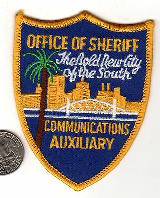 POLICE PATCH STATE Florida JACKSONVILLE COMMUNICATIONS AUXILIARY OFFICE SHERIFF