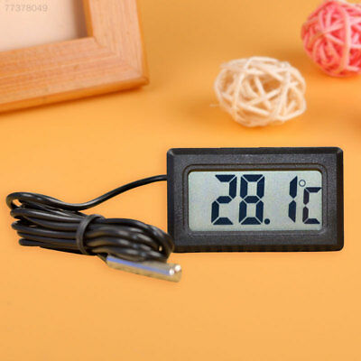8FBF LCD Embedded Digital Thermometer For Fridge FISH Temperature Home Kitchen