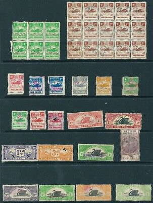40 Western Australia Stamp Duty / Revenue / Tax Stamps , mainly Fiscal Used (NH)