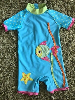 Baby Girls Swimsuit Age 1.5-2 Swimming Costume Next Iv Protect All In One