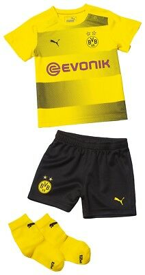 Puma Bvb Home Baby Kit with Sponsor Jersey Baby Set Children Baby Set