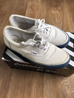 3bce4e3869 Vans Vault WTAPS OG Era LX Authentic White Blue Canvas Supreme UK 8 Anaheim  RARE