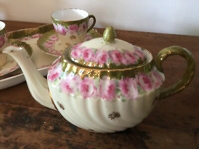 Beautiful vintage China tea set for two - rose design.